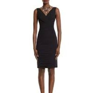 WHBM Black Instantly Slimming Ruched Dress 4